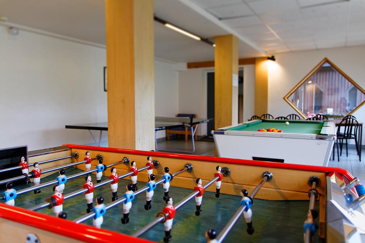 Hotel le Risoux Salle de jeu